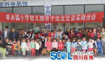 羊木镇小学幼儿园拼图亲子游戏社活动实践_远足的小学生开展图片